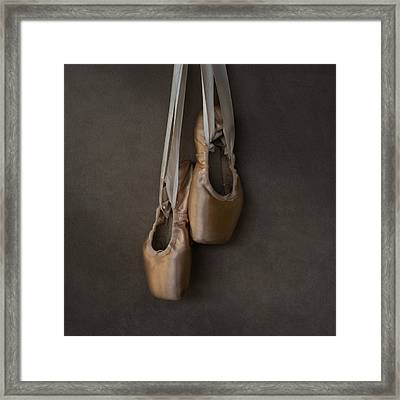 Sacred Pointe Shoes Framed Print by Laura Fasulo