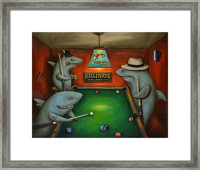 Pool Sharks Framed Print by Leah Saulnier The Painting Maniac