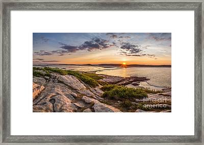 Popham Beach From Fox Island Framed Print by Benjamin Williamson