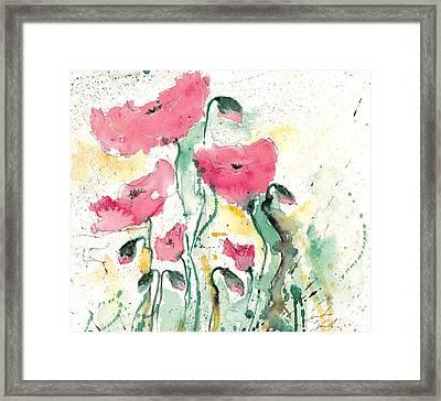 Poppies 10 Framed Print by Ismeta Gruenwald