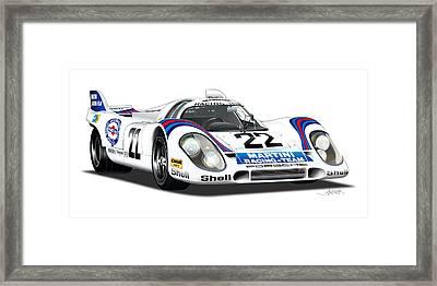 Porsche 917 Illustration Framed Print by Alain Jamar
