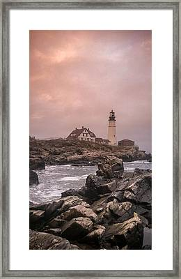 Portland Headlight Framed Print by Chad Tracy