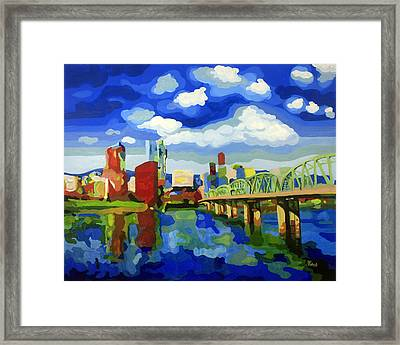 Portland In Color Framed Print by Tracy Roland