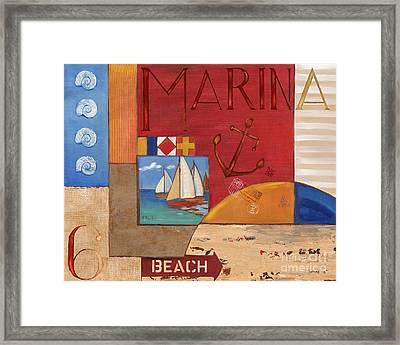 Portofino Collage II Framed Print by Paul Brent