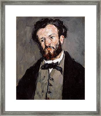 Portrait Of Anthony Valabregue Framed Print by Paul Cezanne