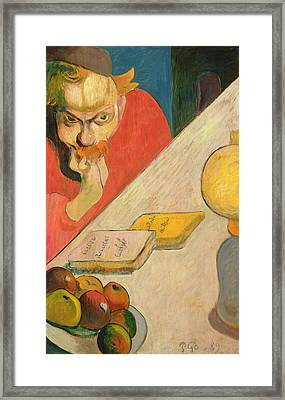Portrait Of Jacob Meyer De Haan Framed Print by Paul Gauguin