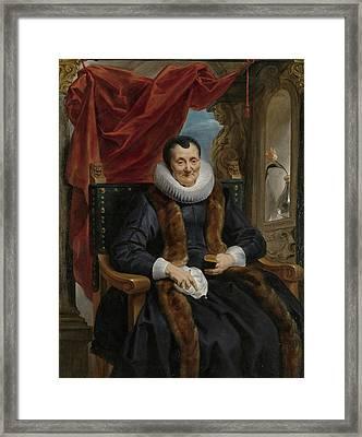 Portrait Of Magdalena De Cuyper Framed Print by Celestial Images