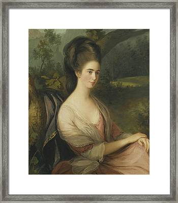 Portrait Of Miss Charlotte Dee Framed Print by Thomas Hickey