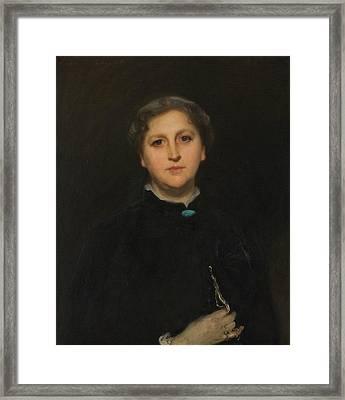 Portrait Of Mrs Raphael Pumpelly Framed Print by John Singer Sargent