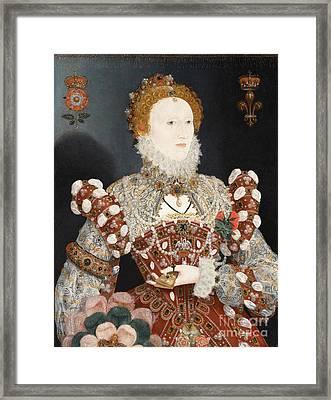 Portrait Of Queen Elizabeth I Framed Print by Celestial Images