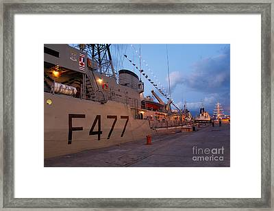 Portuguese Navy Frigates Framed Print by Gaspar Avila