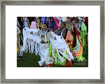 Pow Wow Beauty Of The Past 12 Framed Print by Bob Christopher