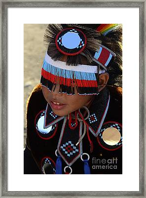 Pow Wow Beauty Of The Past 3 Framed Print by Bob Christopher