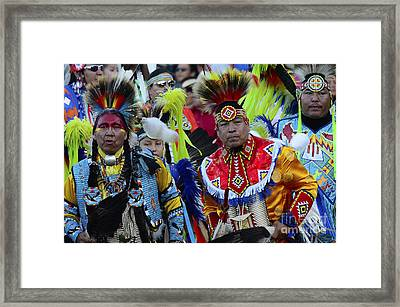 Pow Wow Beauty Of The Past 8 Framed Print by Bob Christopher