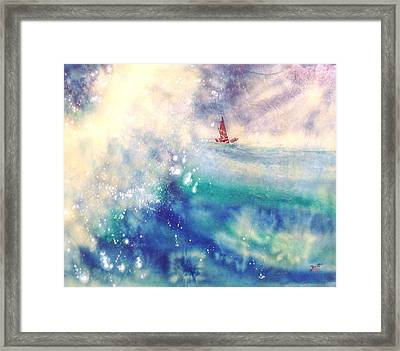 Powerful Sailing Framed Print by John YATO