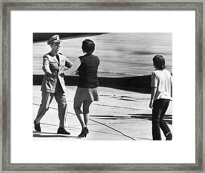Pows Arrive Home Framed Print by Underwood Archives