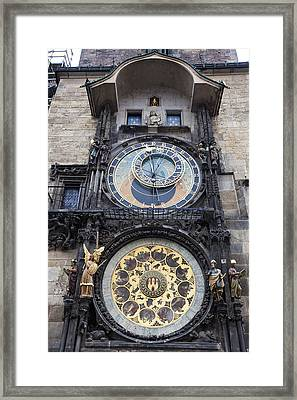 Prague Astronomical Clock Framed Print by Andre Goncalves
