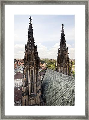 Prague Cathedral Framed Print by Andre Goncalves