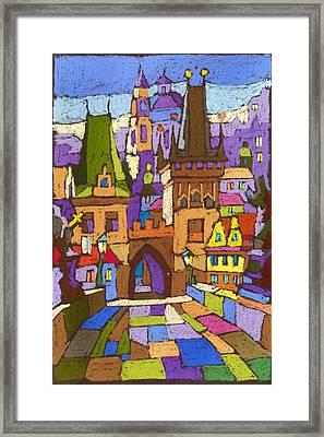 Prague Charles Bridge 01 Framed Print by Yuriy  Shevchuk