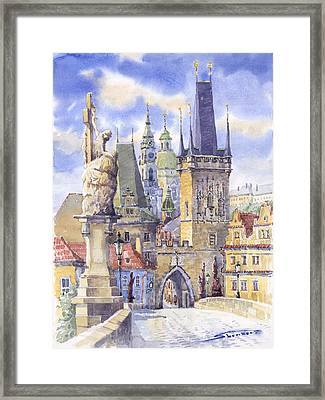 Prague Charles Bridge Framed Print by Yuriy  Shevchuk