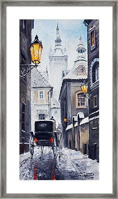 Prague Old Street 02 Framed Print by Yuriy  Shevchuk