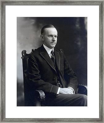 President Calvin Coolidge Framed Print by International  Images
