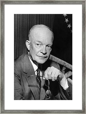 President Dwight D. Eisenhower Framed Print by Underwood Archives