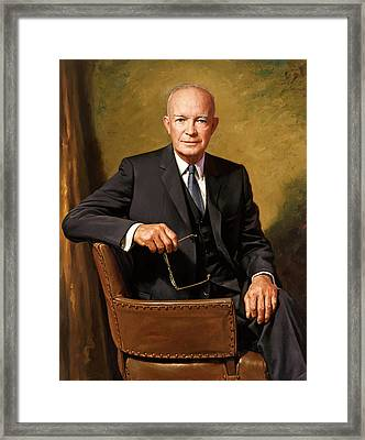 President Dwight Eisenhower Framed Print by War Is Hell Store
