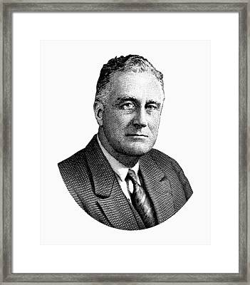 President Franklin Roosevelt Graphic  Framed Print by War Is Hell Store