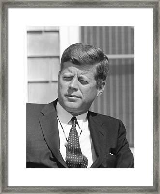 President John Kennedy Framed Print by War Is Hell Store