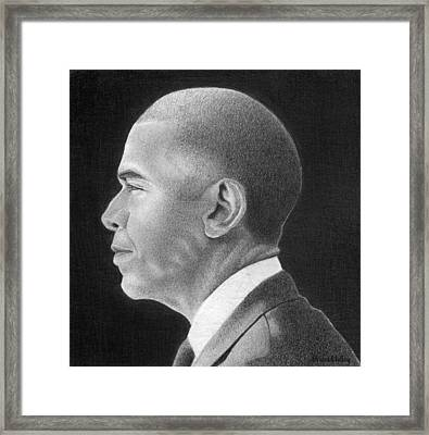 President Obama Framed Print by Curtis Maultsby