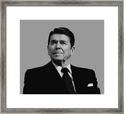 President Reagan Framed Print by War Is Hell Store