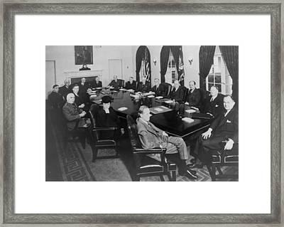 President Roosevelt Meeting Framed Print by Everett