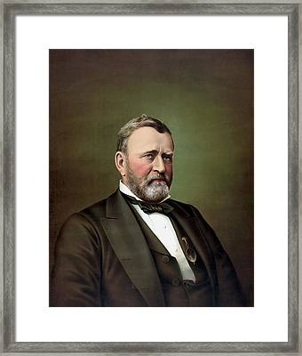 President Ulysses S Grant Framed Print by War Is Hell Store