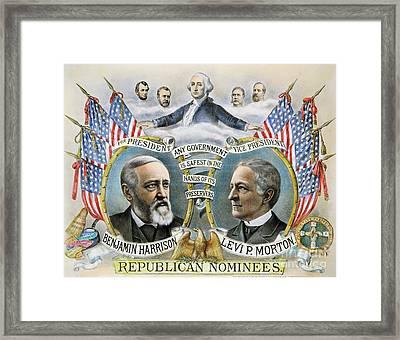 Presidential Campaign, 1888 Framed Print by Granger