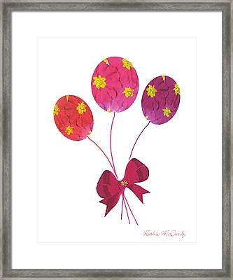 Primrose Balloons Framed Print by Kathie McCurdy