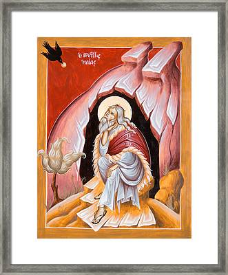 Prophet Elijah  Framed Print by Julia Bridget Hayes
