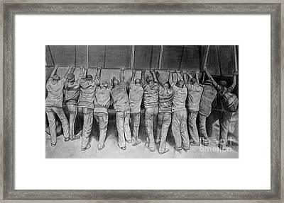 Protest Framed Print by Curtis James