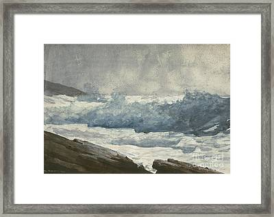 Prouts Neck, Breakers Framed Print by Winslow Homer