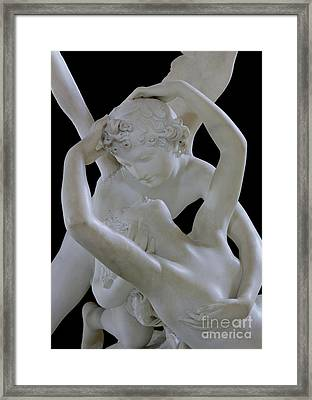 Psyche Revived By The Kiss Of Cupid Framed Print by Antonio Canova