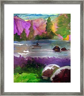 Purple Mountains Framed Print by Catherine Wellenberger
