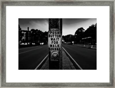 Push Button Framed Print by Mountain Dreams