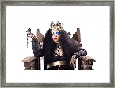 Queen Holding Christian Cross Framed Print by Jorgo Photography - Wall Art Gallery