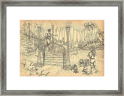 Queen Of The Hive Framed Print by Reynold Jay