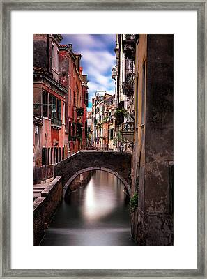 Quiet Canal In Venice Framed Print by Andrew Soundarajan