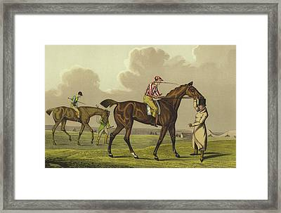 Racing Framed Print by Henry Thomas Alken