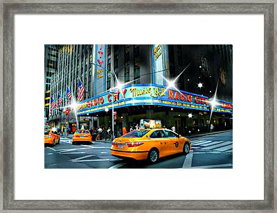 Radio City Framed Print by Diana Angstadt