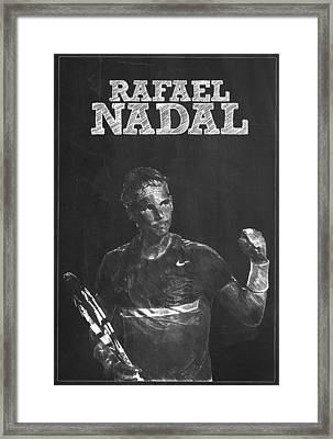 Rafael Nadal Framed Print by Semih Yurdabak
