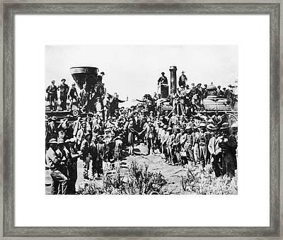 Railroading Framed Print by Granger