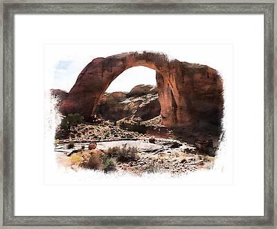 Rainbow Bridge National Monument Framed Print by Joseph Hendrix